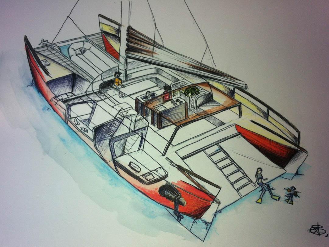 Construcation d'un catamaran
